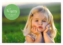 Green Bubble Holiday Photo Cards